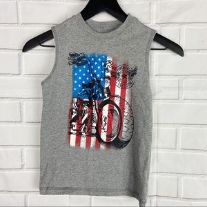 Other - Kids boys sleeveless tank top motorcycle American